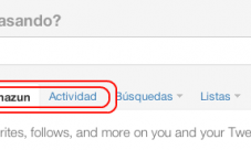 Novedades en Twitter: @usuario y Actividad