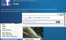 El botón «Me Gusta» de Facebook para Google Chrome