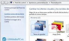 Como cambiar los iconos de Windows 7