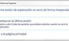 Como restaurar sesión con Internet Explorer 8