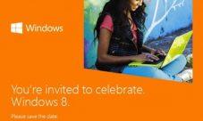 Invitaciones para el estreno de Windows 8