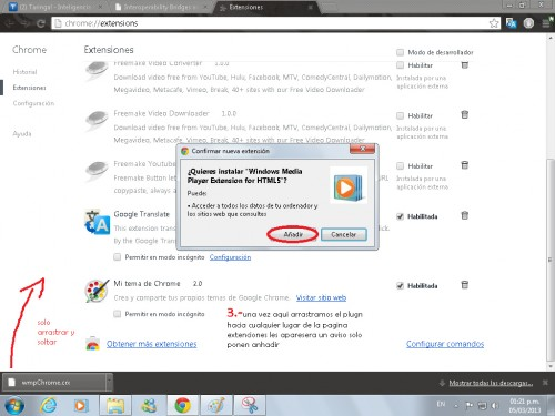 instalar windows media player en chrome