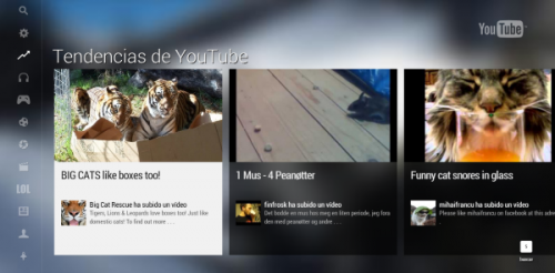 youtube modo TV