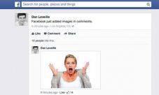 Facebook añade los comentarios con fotos