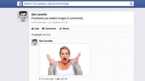 facebook foto en comentarios